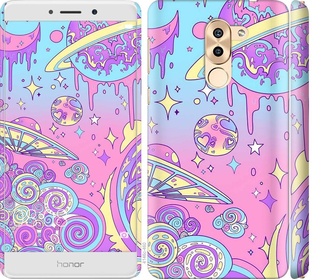 Чехол на Huawei Mate 9 Lite Розовая галактика