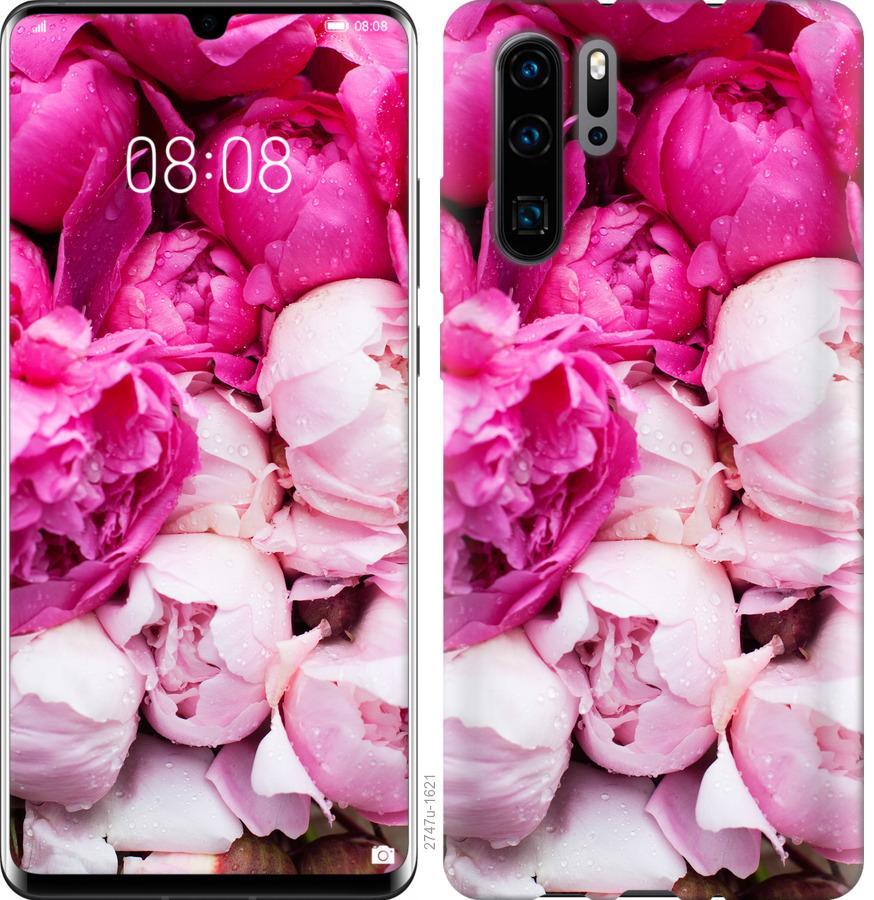 Чехол на Huawei Nova 6SE Розовые пионы