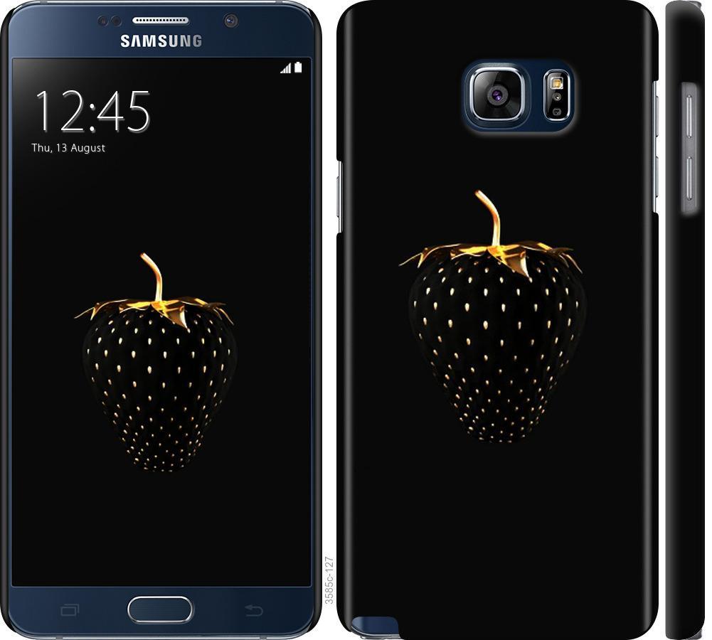 Чохол на Samsung Galaxy Note 5 N920C  Чорна полуниця
