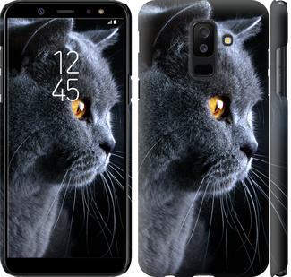 Чехол на Samsung Galaxy A6 Plus 2018 Красивый кот