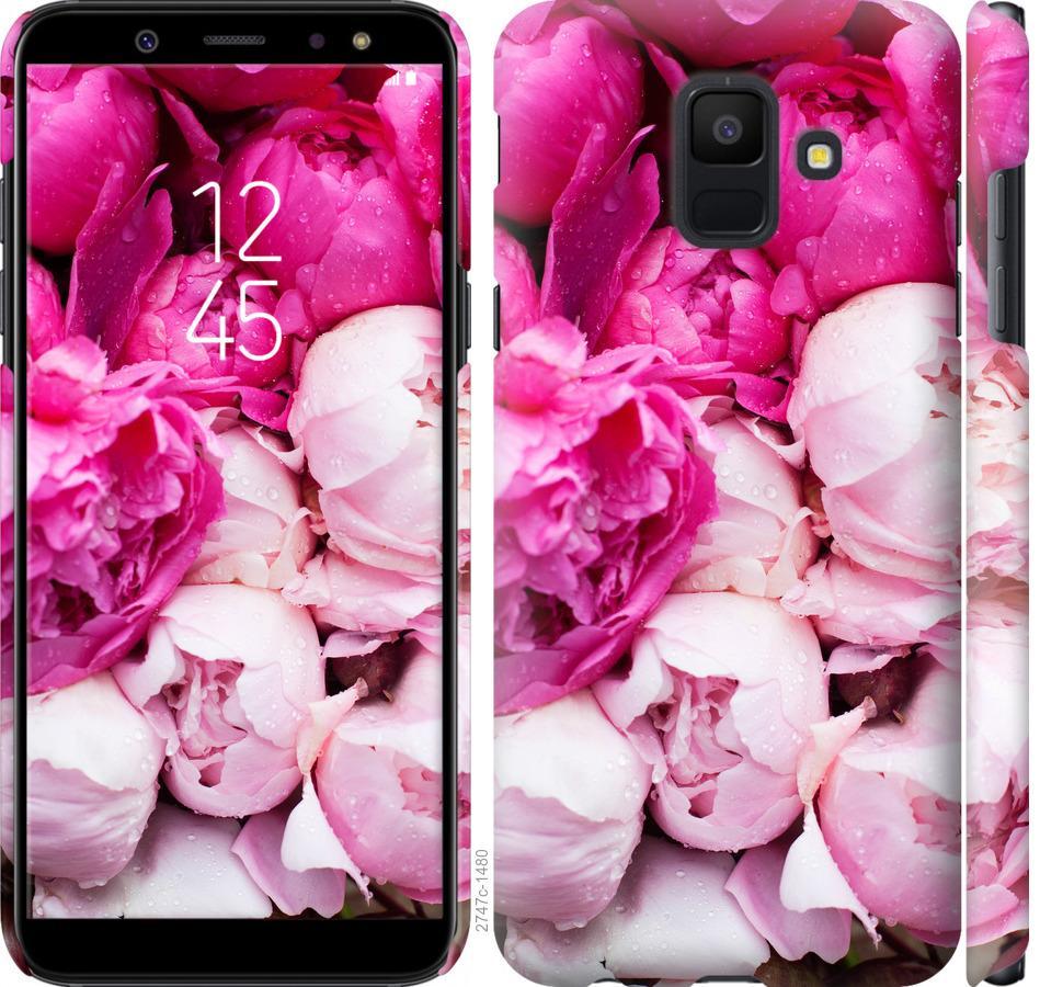 Чехол на Samsung Galaxy A6 2018 Розовые пионы