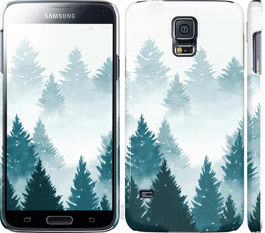 Чехол на Samsung Galaxy S5 g900h Акварельные Елки