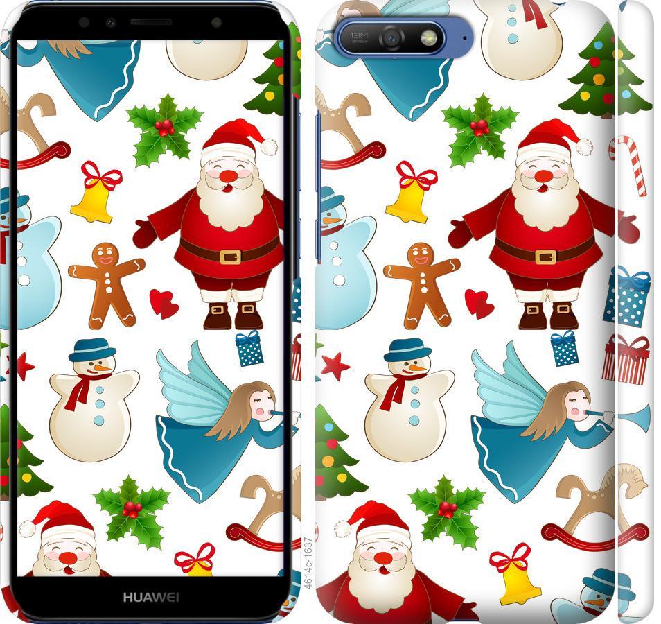 Чехол на Huawei Y6 2018 Новогодний 1
