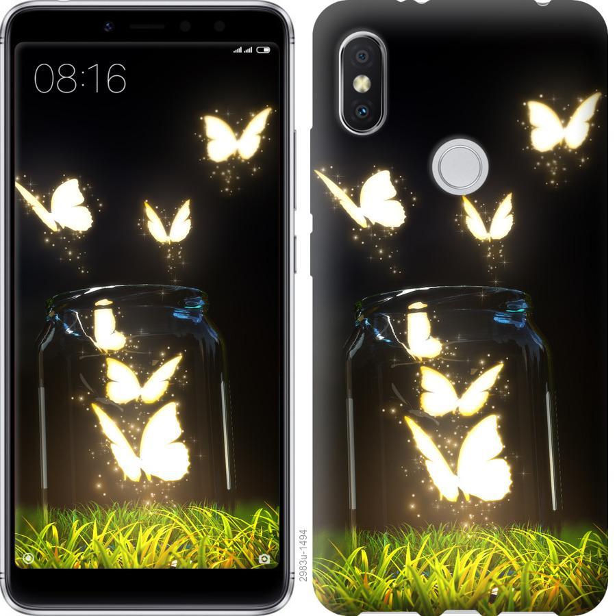 Чехол на Xiaomi Mi Mix 2s Бабочки