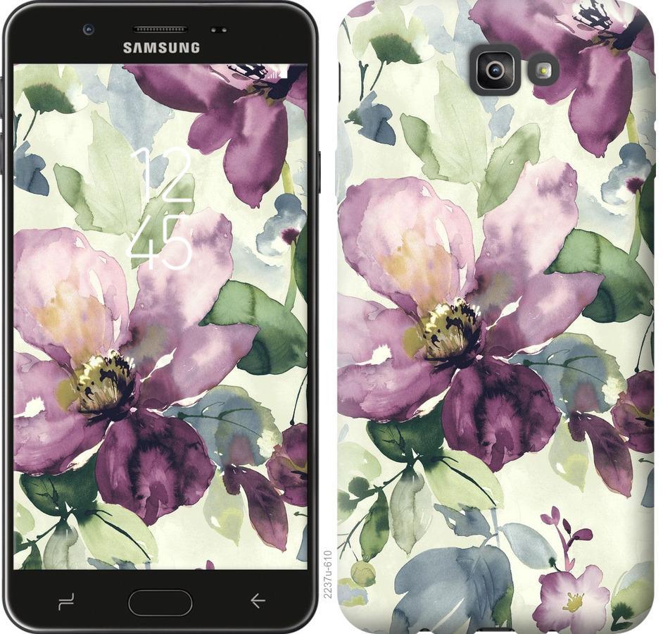 Чехол на Samsung Galaxy J7 Prime Цветы акварелью