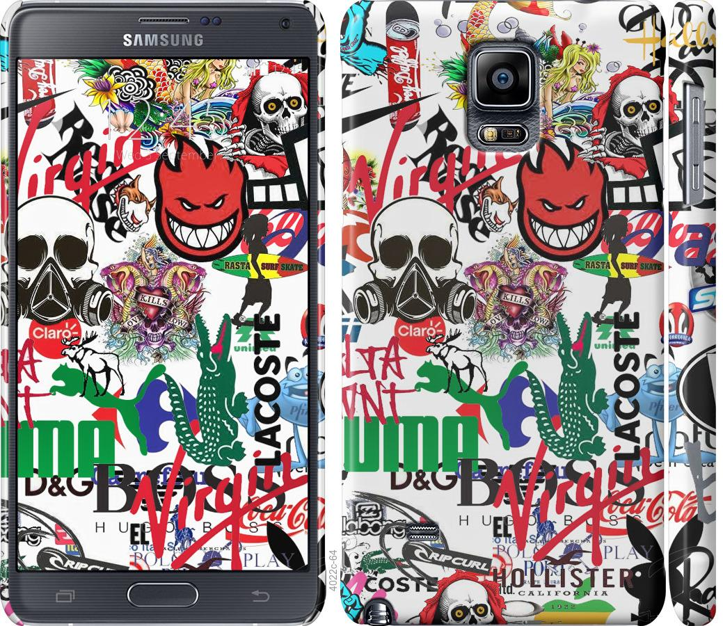 Чехол на Samsung Galaxy Note 4 N910H Many different logos