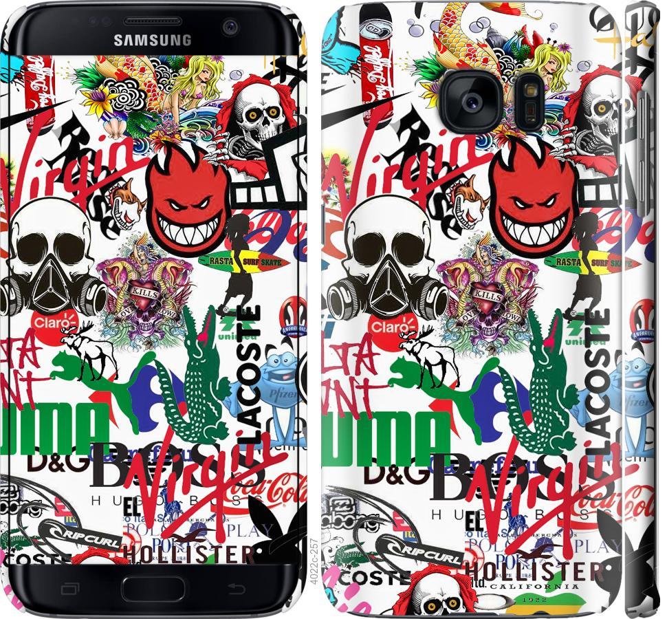 Чохол на Samsung Galaxy S7 Edge G935F Many different logos