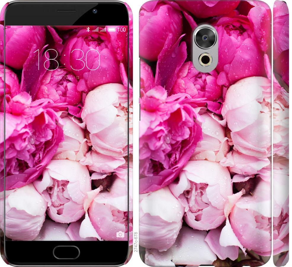 Чехол на Meizu Pro 6 Plus Розовые пионы