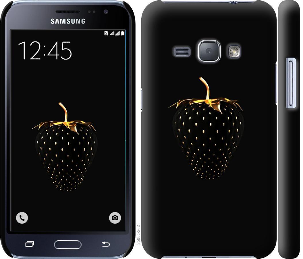 Чехол на Samsung Galaxy J1 (2016) Duos J120H Черная клубника