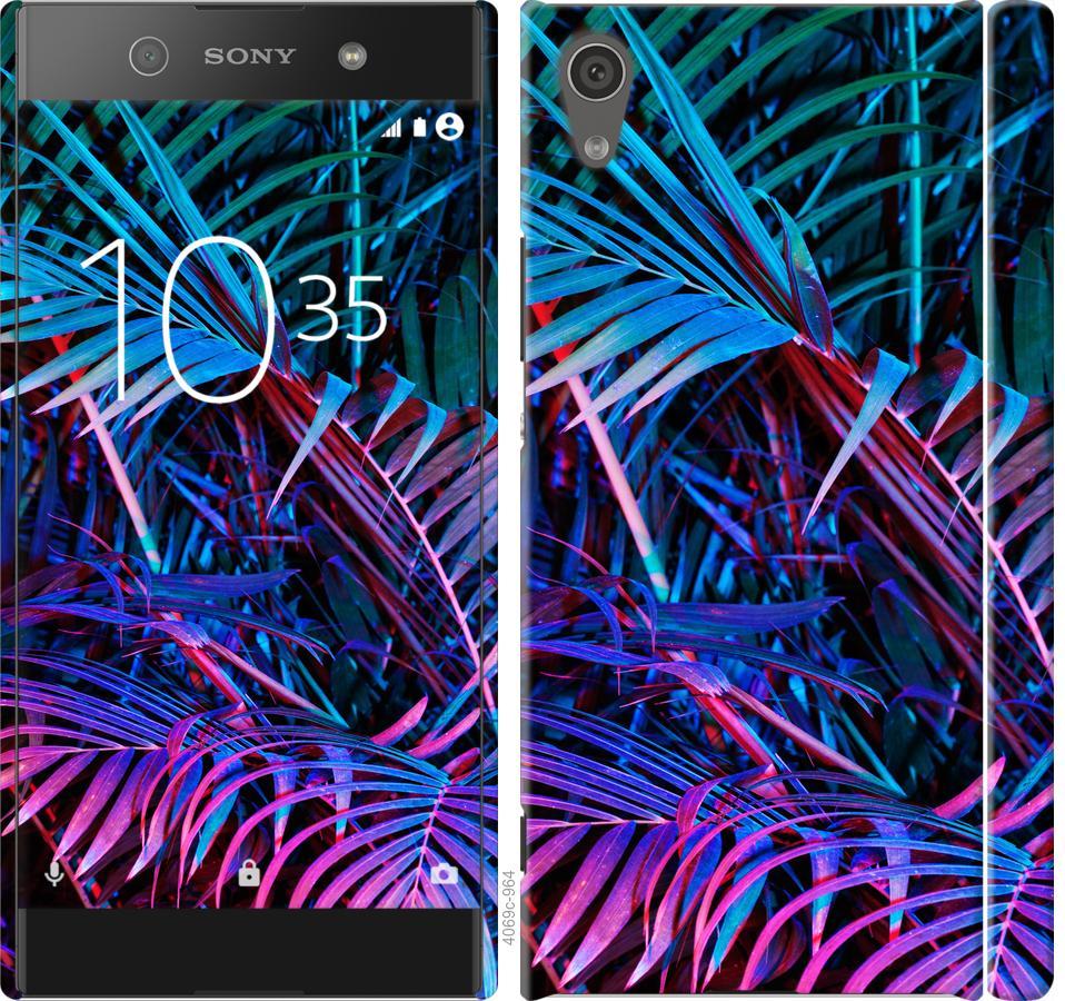 Чехол на Sony Xperia XA1 G3112 Папоротник под ультрафиолетом