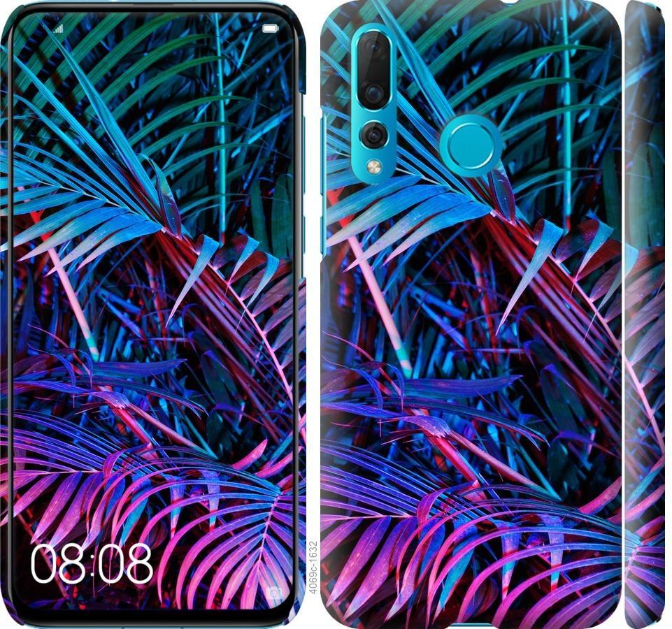 Чехол на Huawei Nova 4 Папоротник под ультрафиолетом