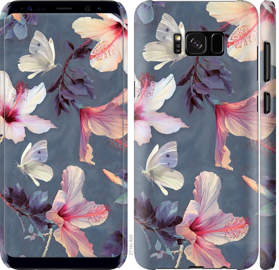 Чехол на Samsung Galaxy S8 Нарисованные цветы