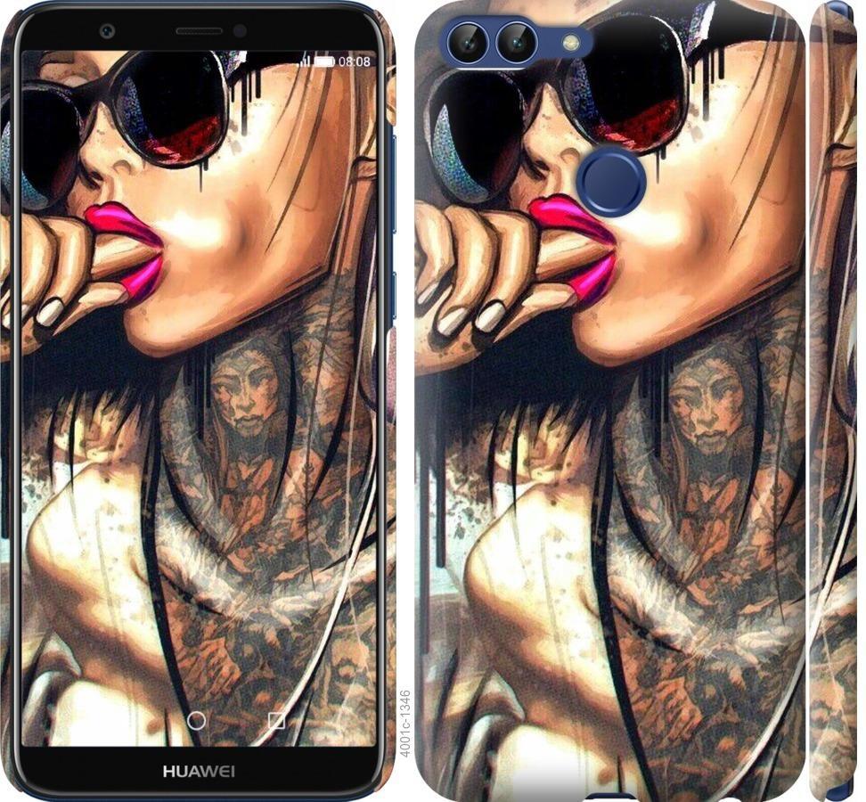 Чехол на Huawei P Smart Девушка в тату