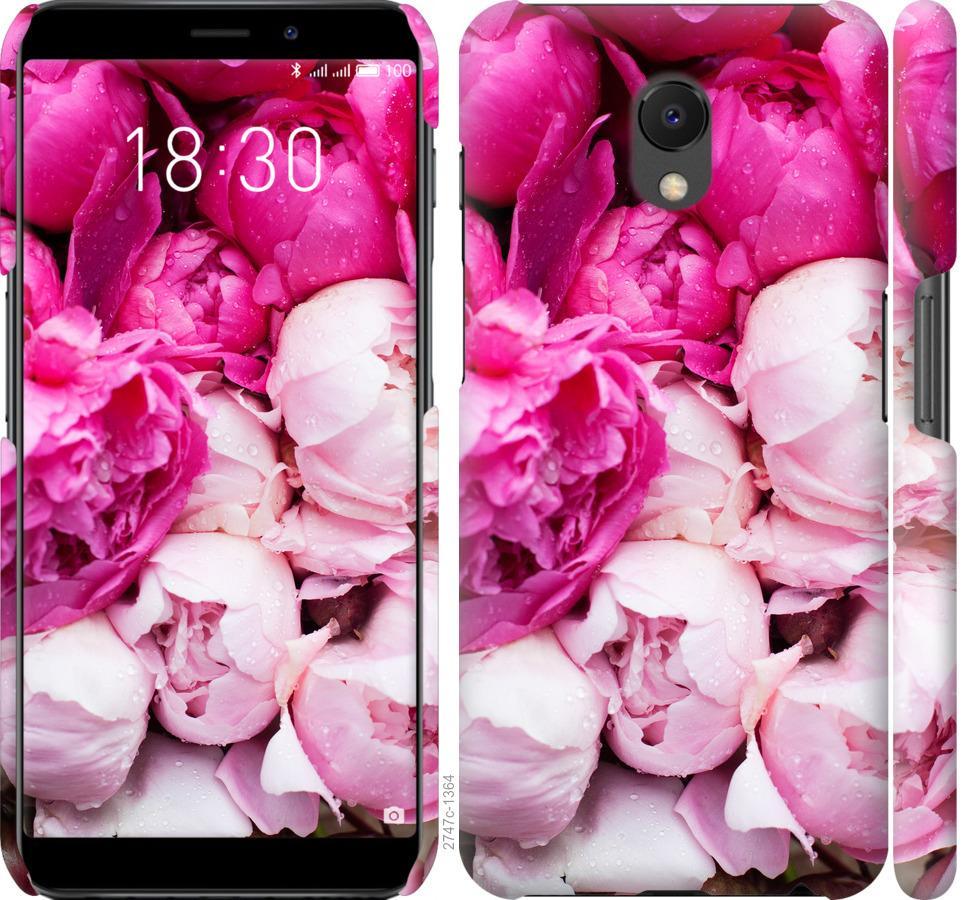Чехол на Meizu M6s Розовые пионы