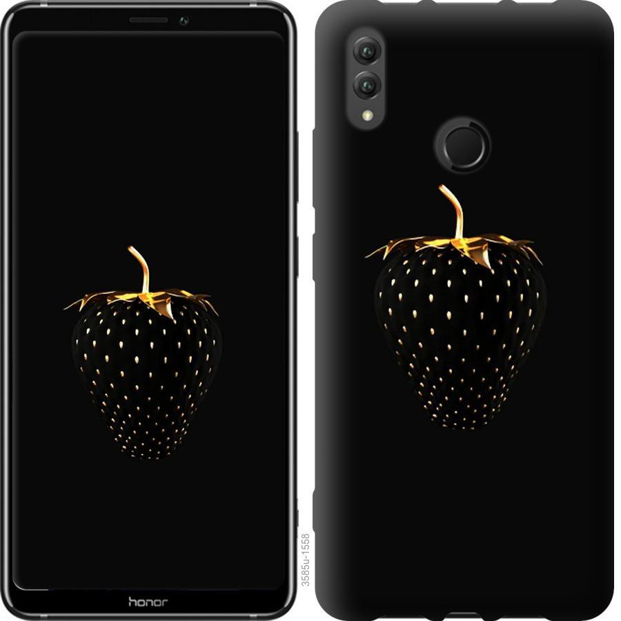 Чехол на Huawei Honor Note 10 Черная клубника