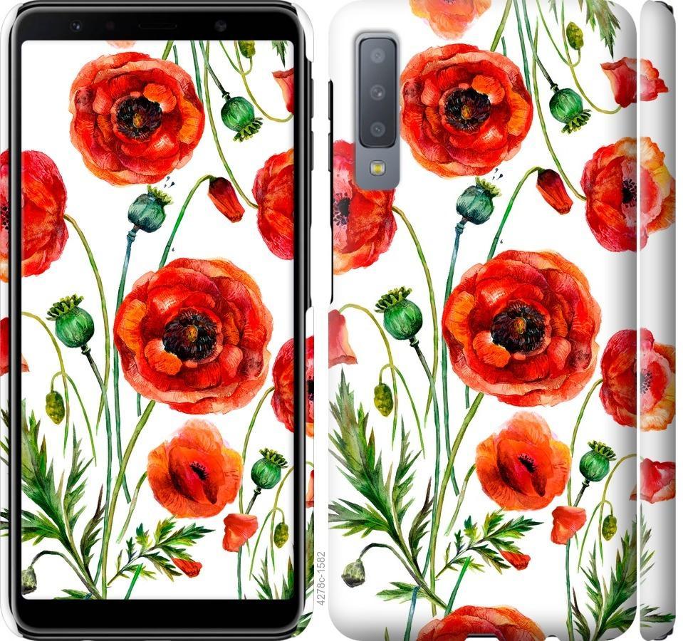 Чехол на Samsung Galaxy A7 (2018) A750F Нарисованные маки