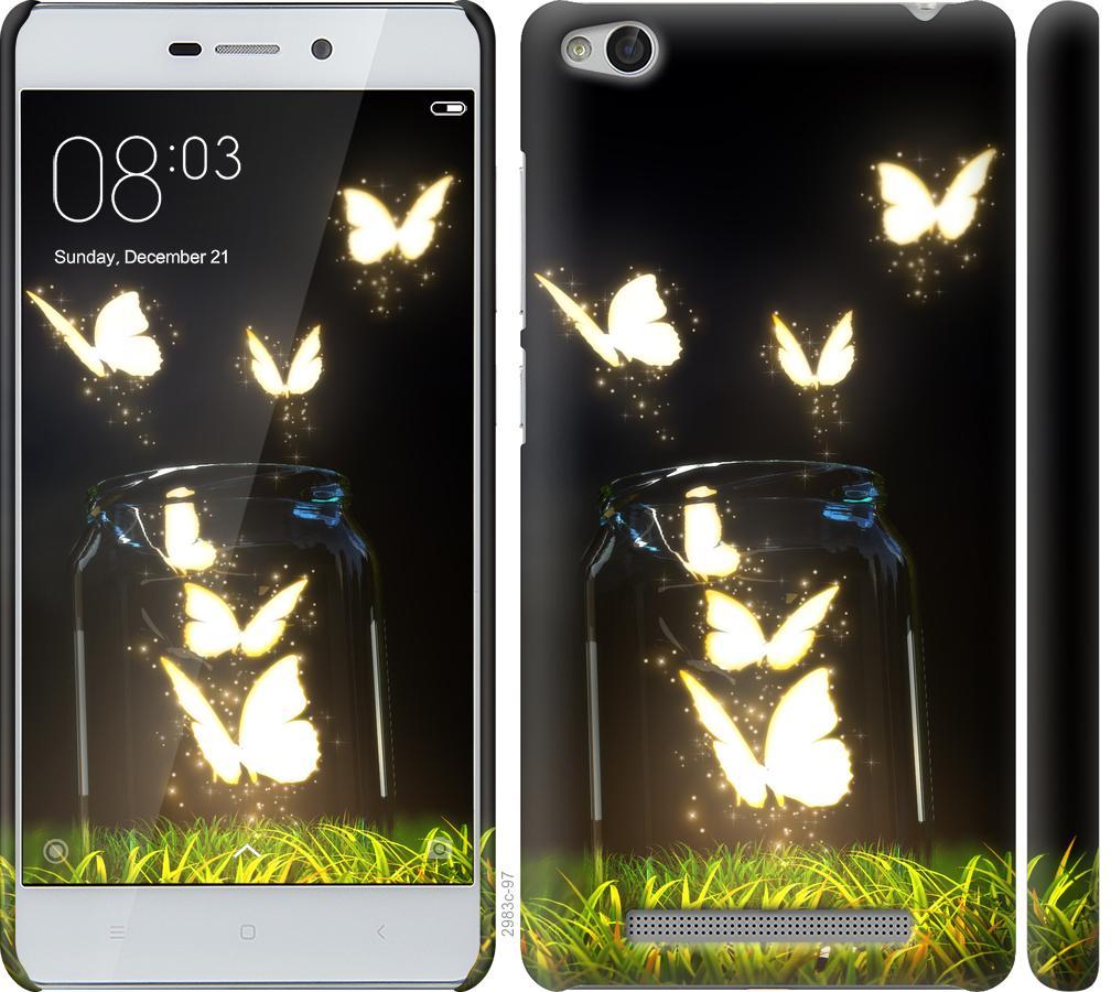 Чехол на Xiaomi Redmi 3 Светящиеся бабочки