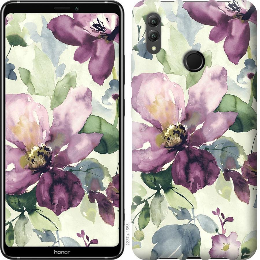 Чехол на Huawei Honor Note 10 Цветы акварелью