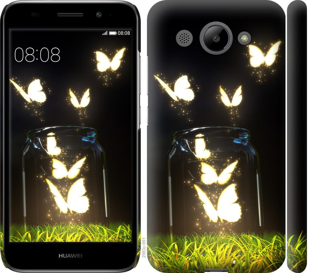 Чохол на Huawei Y3 2017  Сяючі метелики