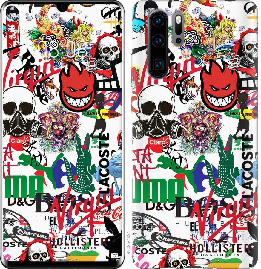 Чехол на Oppo Reno 3 Many different logos