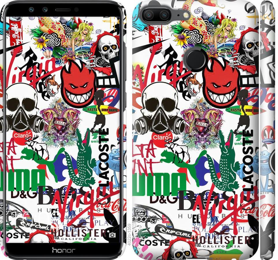 Чохол на Huawei Honor 9 Lite Many different logos