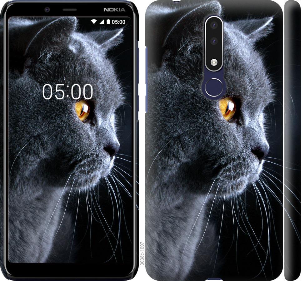 Чехол на Nokia 3.1 Plus Красивый кот