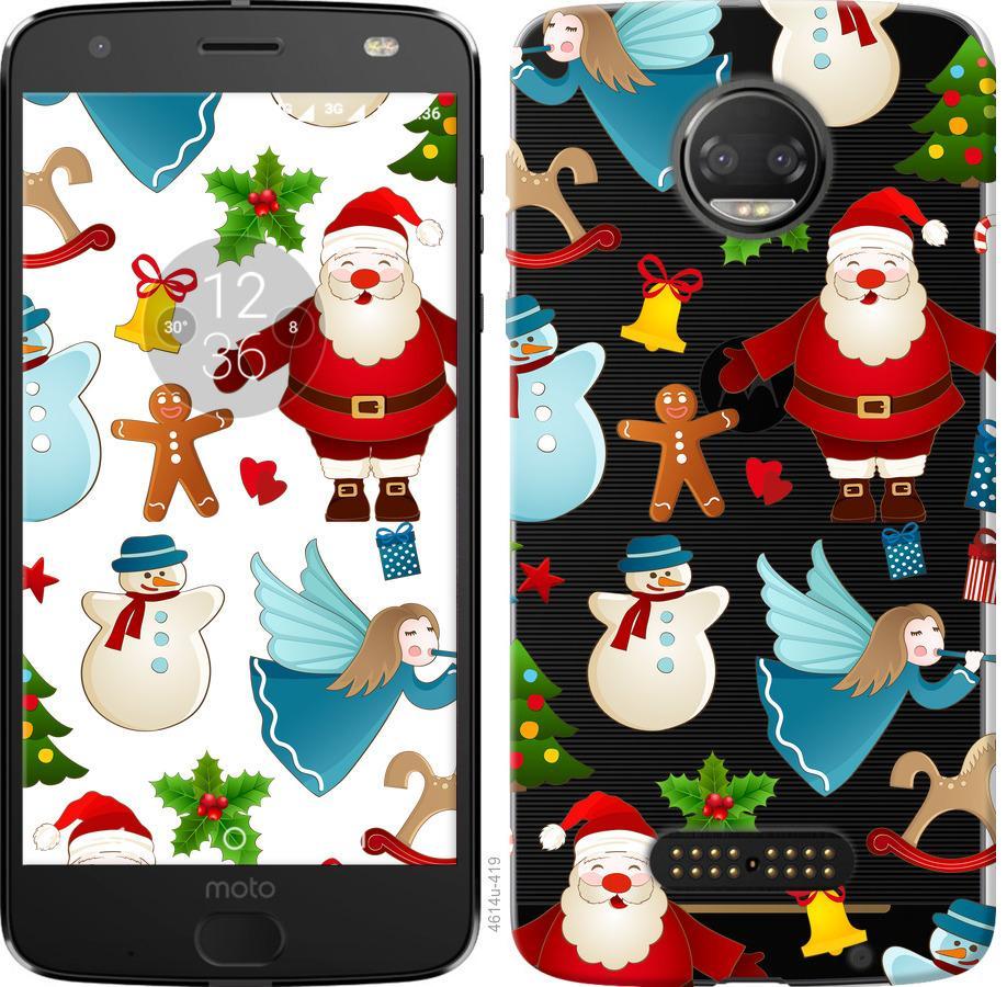 Чехол на Motorola Moto G5 PLUS Новогодний 1