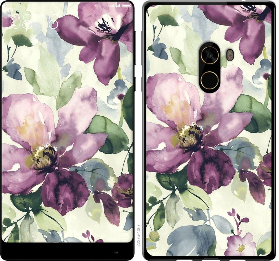 Чехол на Xiaomi Mi MiX 2 Цветы акварелью