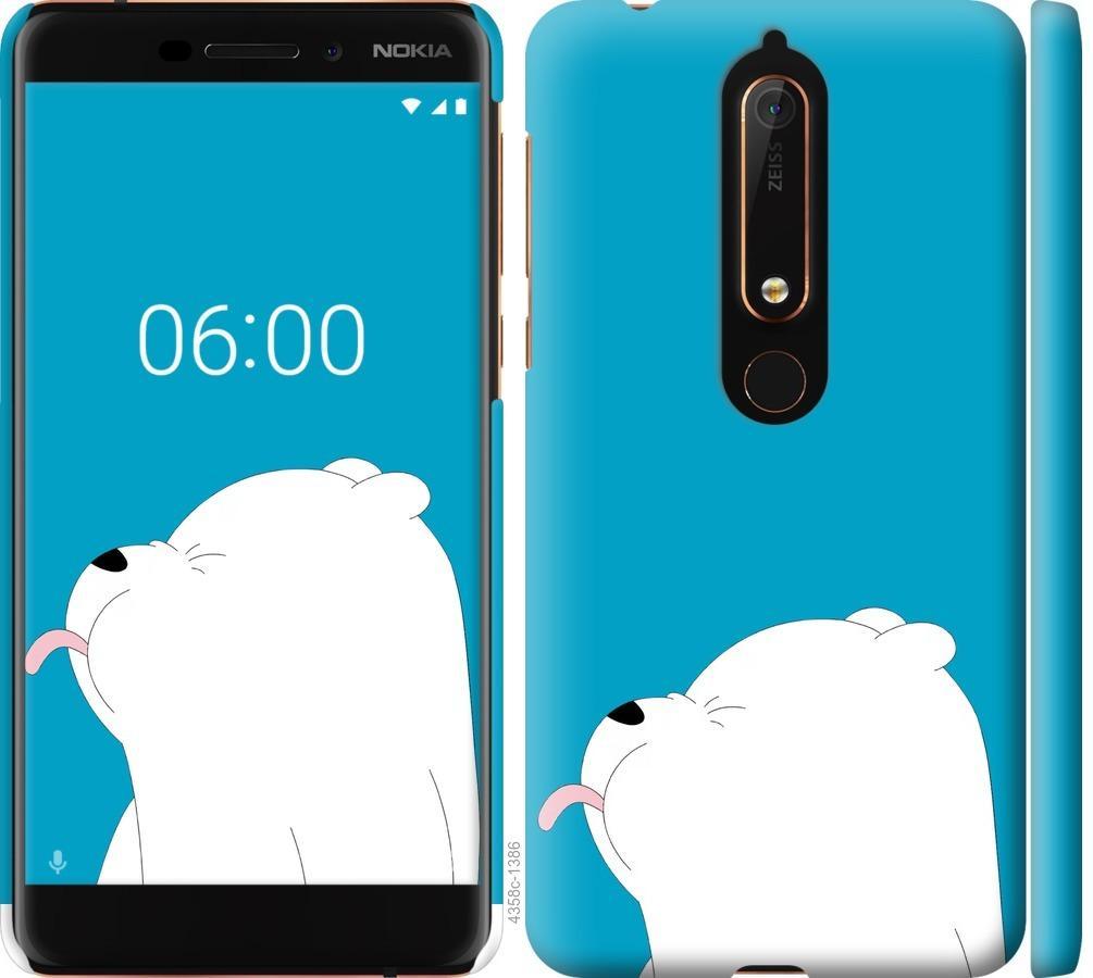 Чехол на Nokia 6.1 Мишка 1