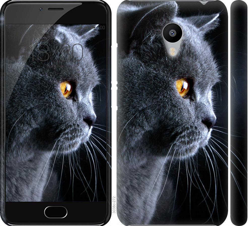 Чехол на Meizu M3 Красивый кот