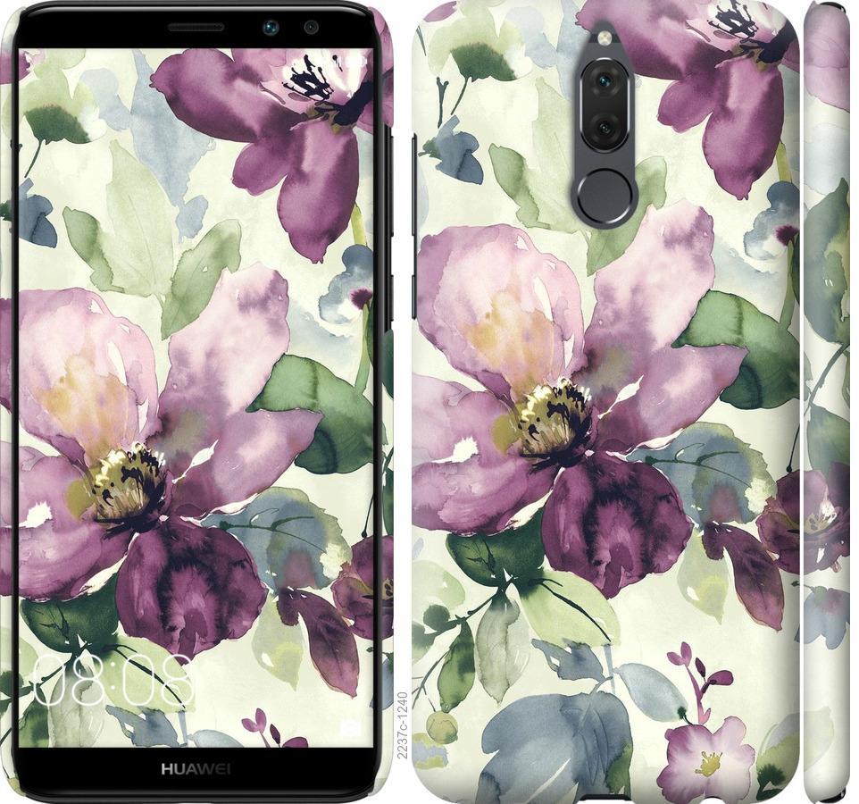Чехол на Huawei Honor 9i Цветы акварелью