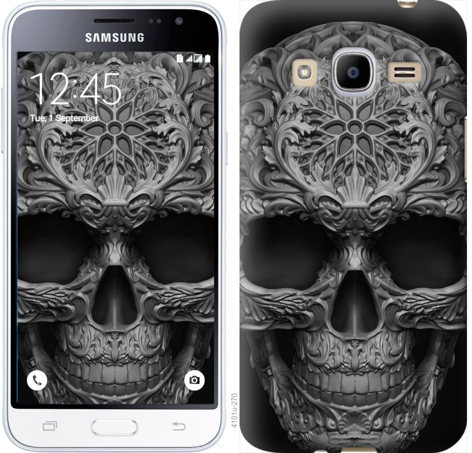 Чехол на Samsung Galaxy J2 (2016) J210 skull-ornament