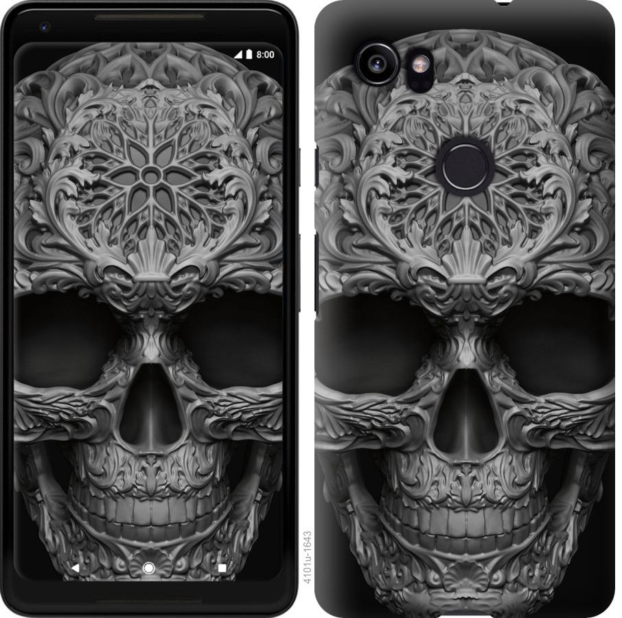 Чехол на Google PixeL 2 XL skull-ornament