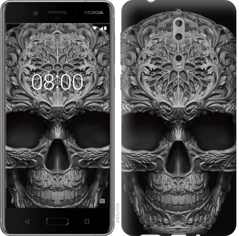 Чехол на Nokia 8 skull-ornament