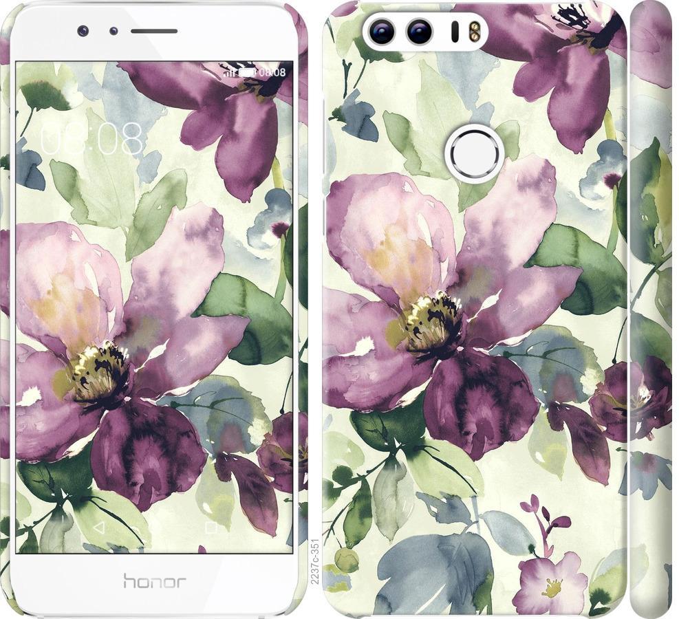 Чехол на Huawei Honor 8 Цветы акварелью