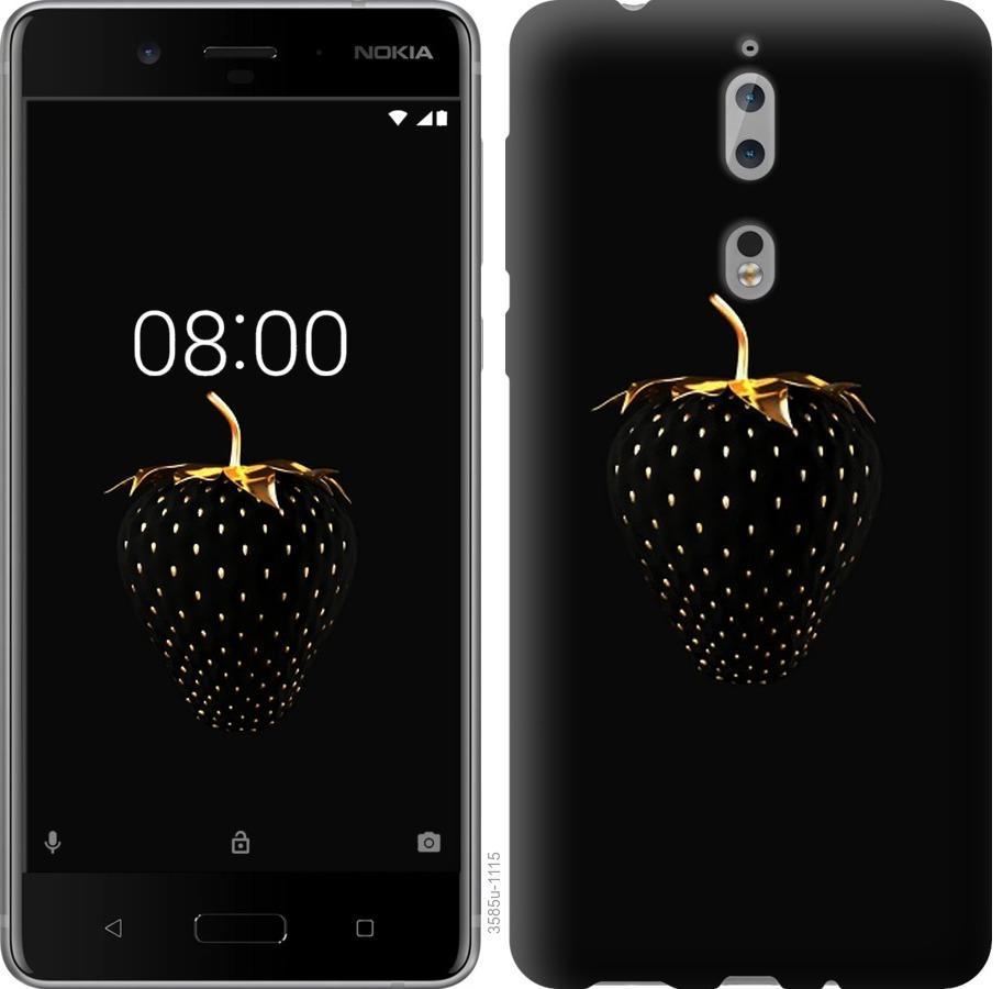 Чехол на Nokia 8 Черная клубника