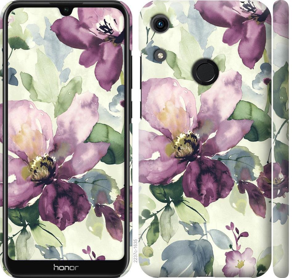 Чехол на Huawei Honor 8A Цветы акварелью