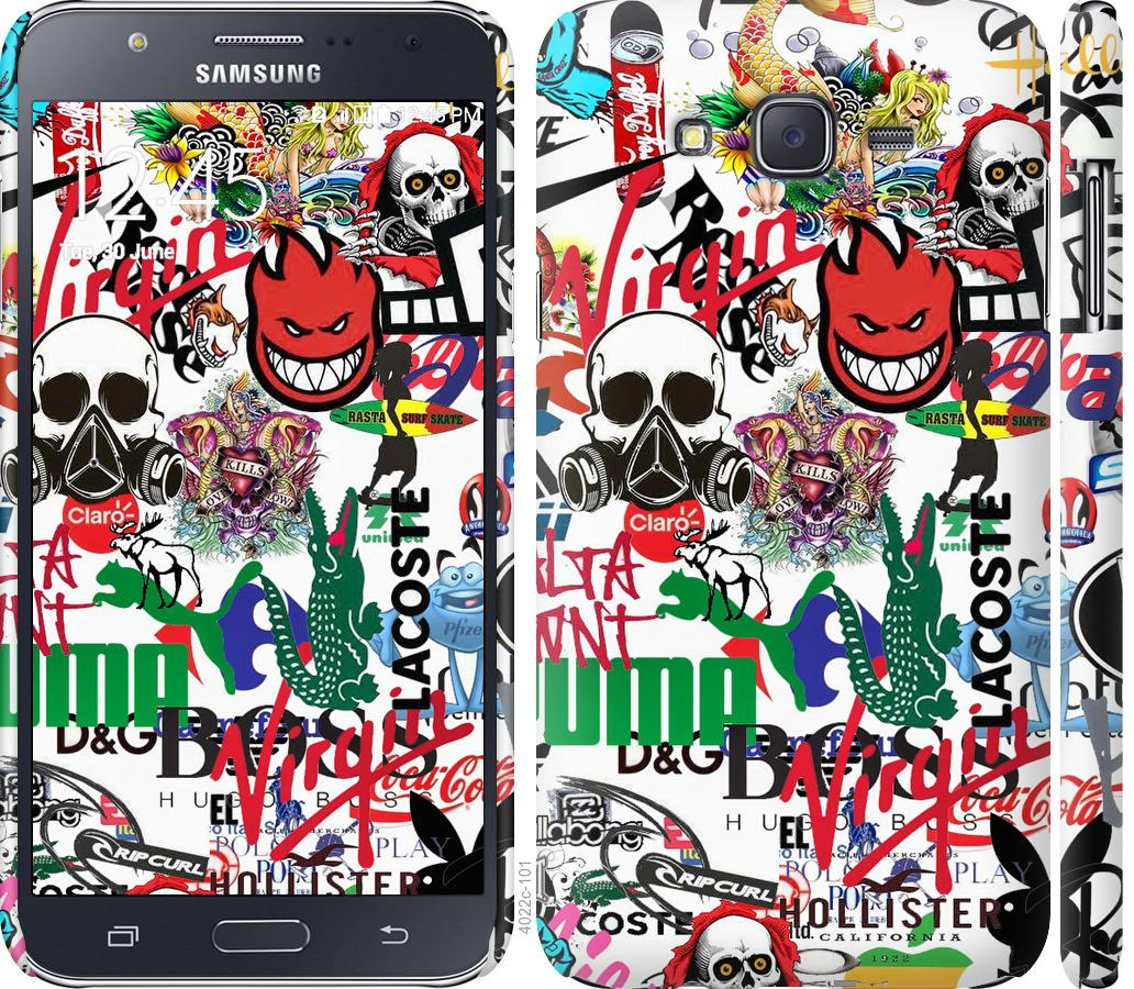 Чохол на Samsung Galaxy J7 J700H Many different logos