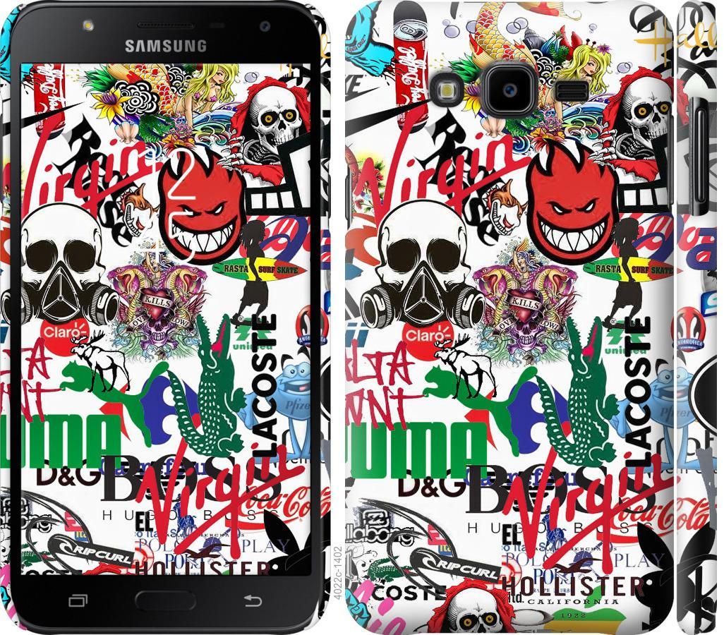 Чехол на Samsung Galaxy J7 Neo J701F Many different logos