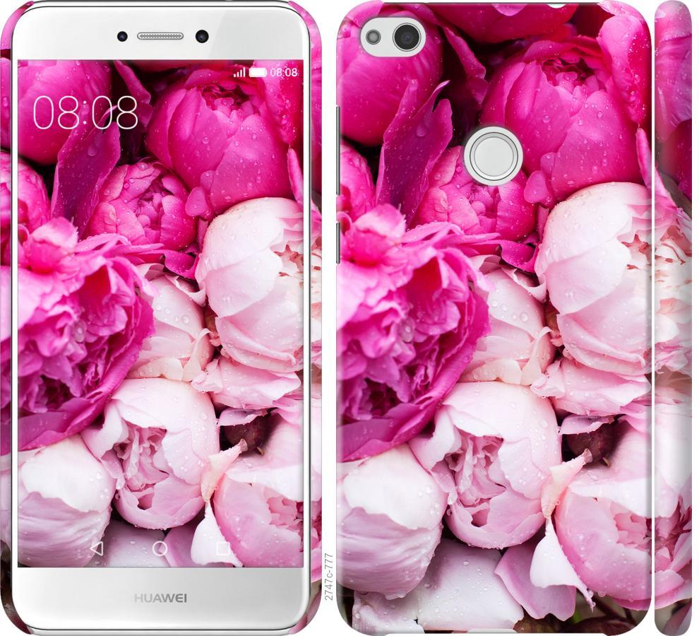 Чехол на Huawei P8 Lite (2017) Розовые пионы