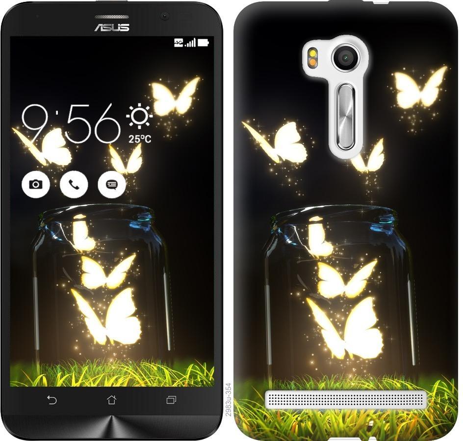 Чехол на Asus ZenFone Go TV ZB551KL Светящиеся бабочки
