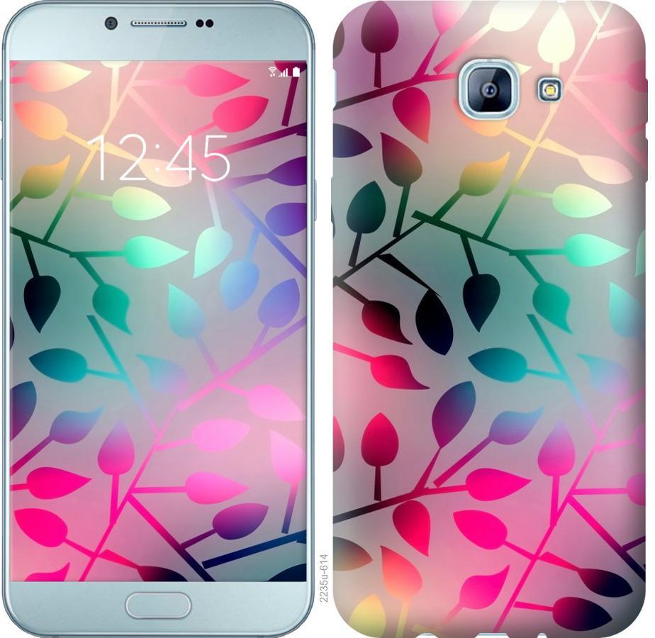 Чехол на Samsung Galaxy A8 (2016) A810 Листья