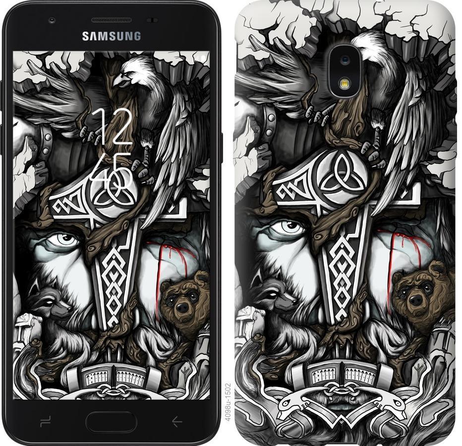 Чехол на Samsung Galaxy J7 2018 Тату Викинг