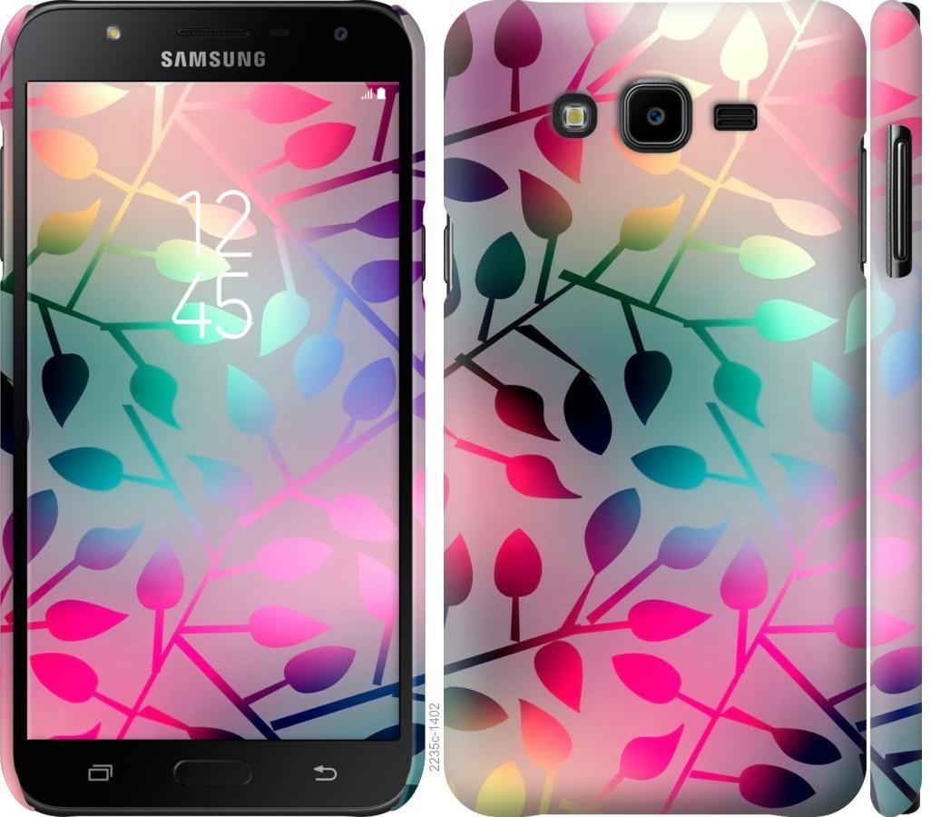 Чехол на Samsung Galaxy J7 Neo J701F Листья