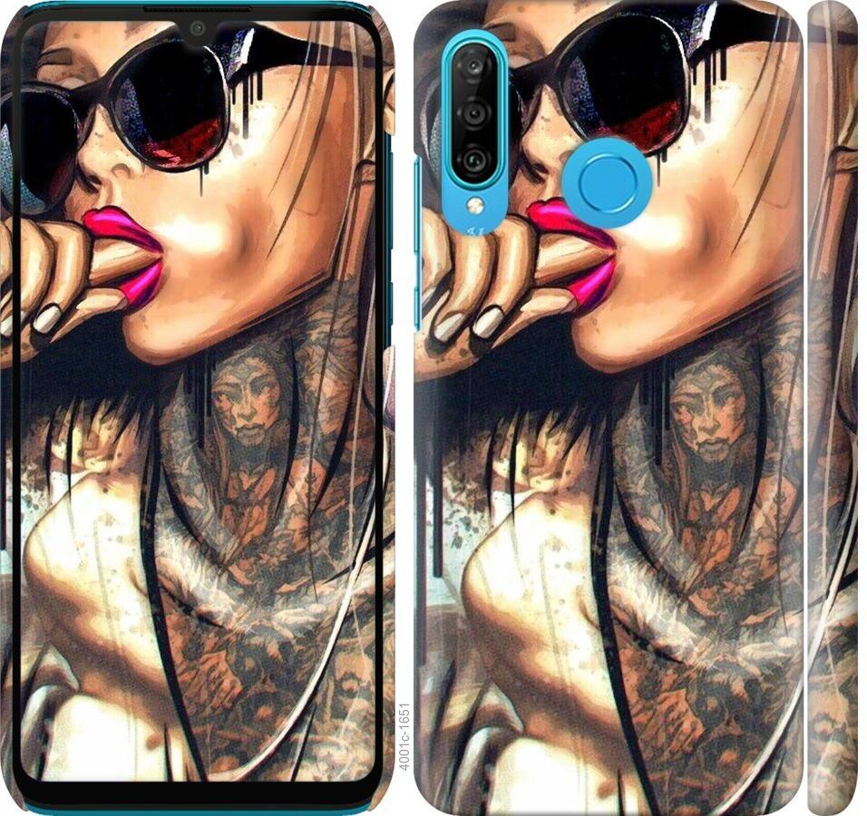 Чехол на Huawei P30 Lite Девушка в тату