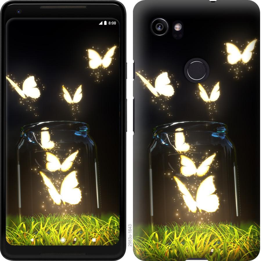 Чохол на Google PixeL 2 XL  Сяючі метелики