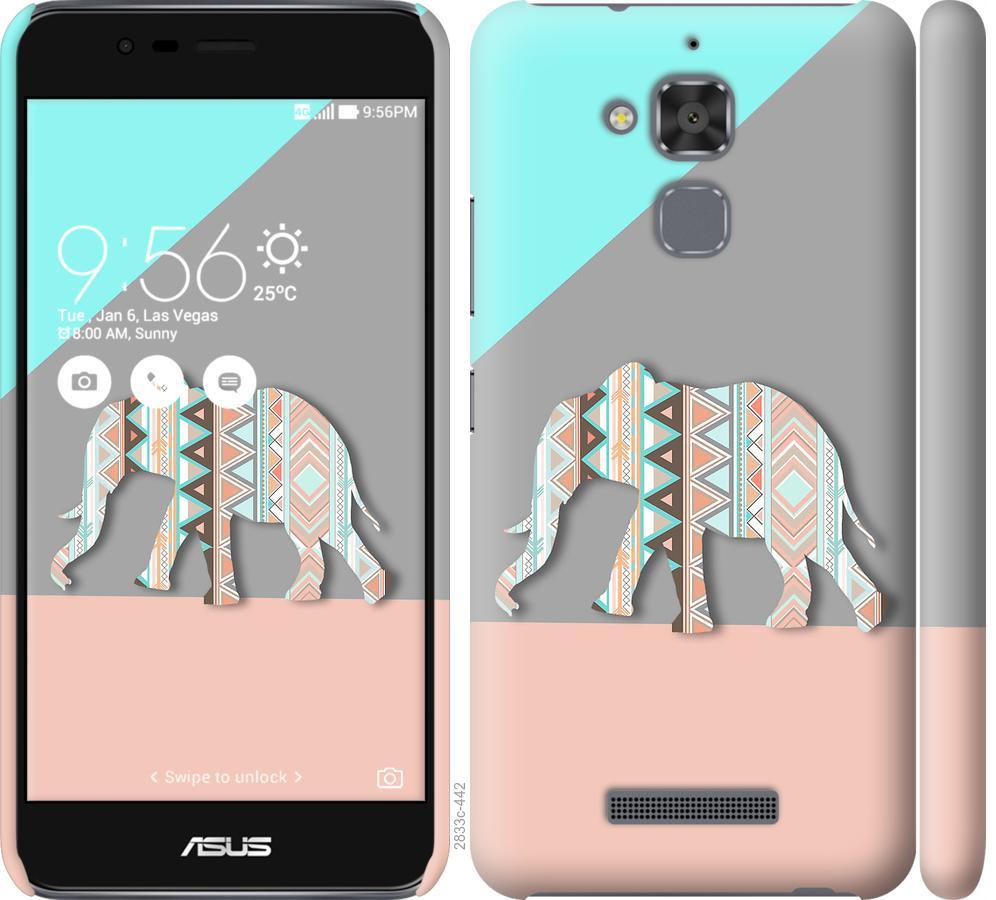 Чехол на Asus Zenfone 3 Max ZC520TL Узорчатый слон