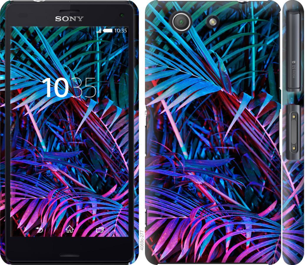 Чехол на Sony Xperia Z3 Compact D5803 Папоротник под ультрафиолетом