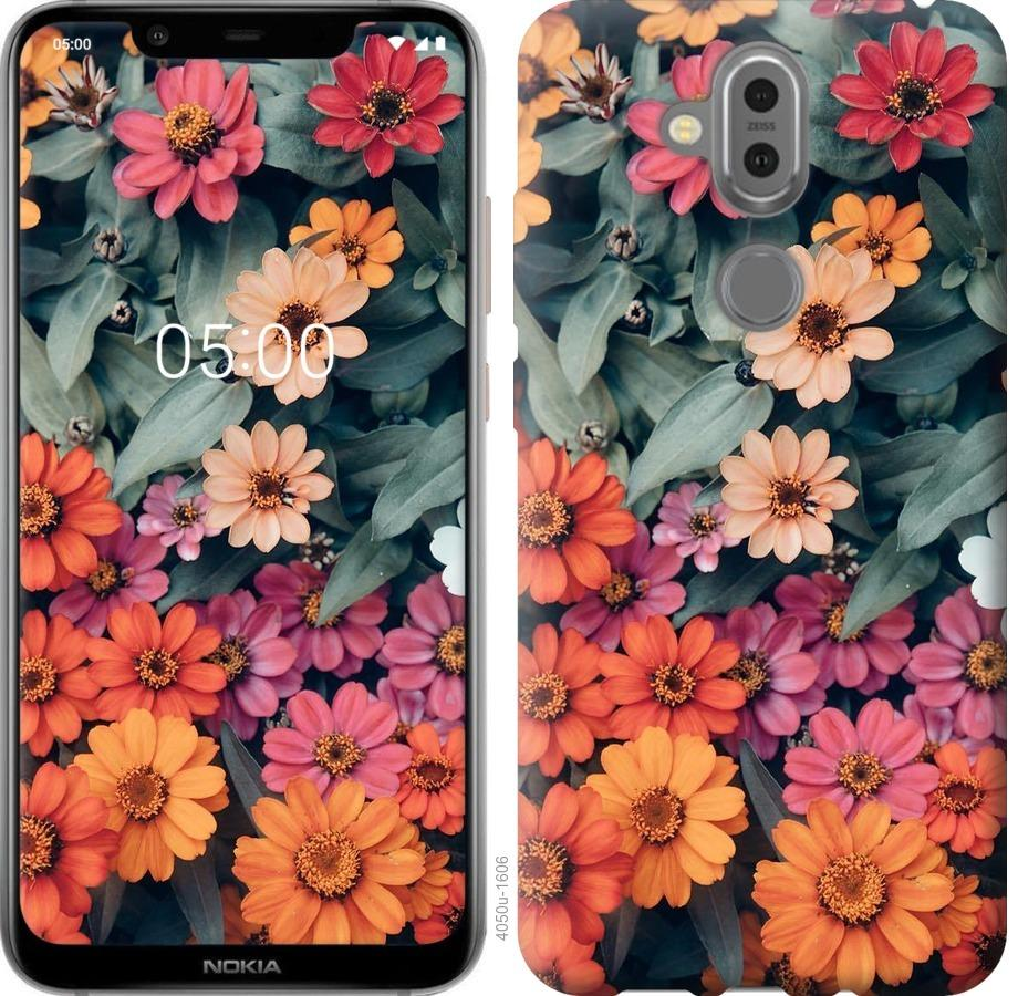 Чехол на Nokia 8.1 Beauty flowers