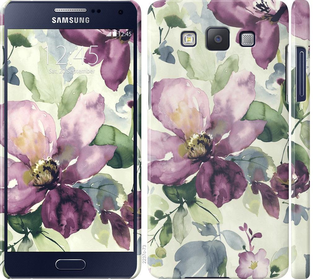 Чехол на Samsung Galaxy A5 A500H Цветы акварелью
